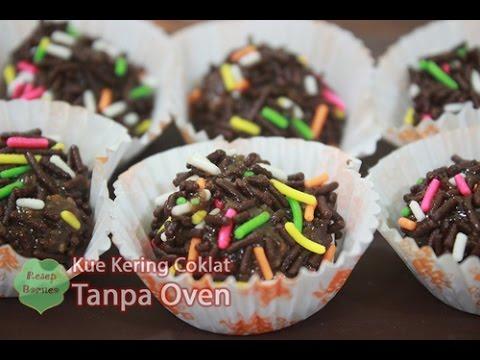 Video Resep Kue Kering Cokelat Tanpa di Oven dan Mixer