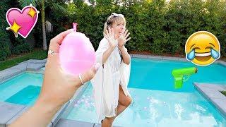 Water Balloon Fight! AlishaMarieVlogs
