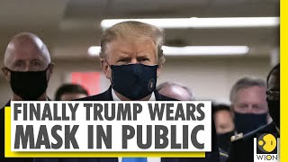 Donald Trump spotted wearing a mask while touring a military hospital | World News - Download this Video in MP3, M4A, WEBM, MP4, 3GP