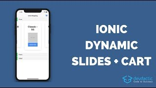 How to build Dynamic Ionic 4 Slides with Shopping Cart