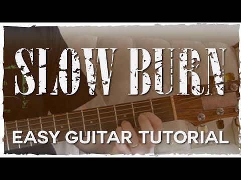 """Slow Burn"" Guitar Tutorial (Easy Chords & Strumming) Kacey Musgraves"