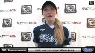 2023 Emerson Meggers 3.71 GPA - Lefty Hitting Shortstop Softball Skills Video - Ca Breeze