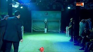 محمد هنيدي يتفوق على أساطير الكرة ويسجل في مرمى الحارس الآلي
