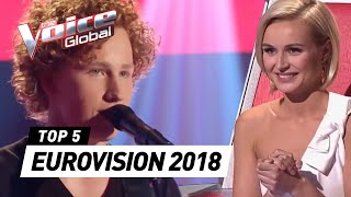 Best Blind Auditions of EUROVISION 2018 contestants | The Voice Global