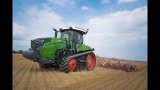 Le nouveau Fendt 943 Vario MT au travail en plaine....
