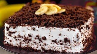 Бисквитный торт с бананами -  безумно вкусный, ароматный и неповторимый! | Appetitno.TV