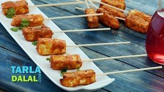 Paneer Amritsari Tikka /Punjabi Vegetarian Starter or Appetizer Recipe by Tarla Dalal