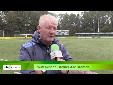 VIDEO | Asv Dronten-trainer Wim Schaap moet erg wennen aan niveau in de tweede klasse