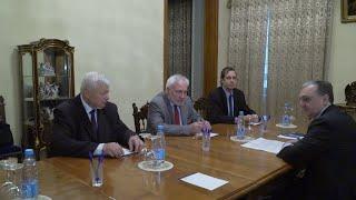 Встреча министра иностранных дел Зограба Мнацаканяна с сопредседателями Минской группы ОБСЕ
