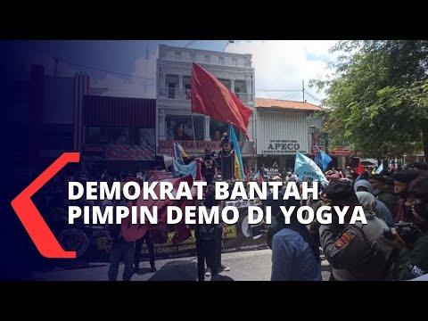 demokrat bantah gerakkan massa di demo uu cipta kerja di yogyakarta