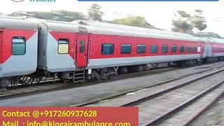 Hire King Train Ambulance Service from Patna and Raipur at low cost