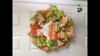 How To Make A Deco Mesh Poof Method Easter  Wreath
