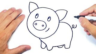 Cómo Dibujar Un Cerdo Paso A Paso   Dibujo De Cerdo