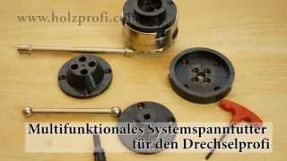Ausbaubares Systemspannfutter, Drechselzubehör HS-DW100, 4 Backen Futter Zum Drechseln