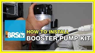 Installing a Booster Pump on a Reverse Osmosis System - BRStv How-To