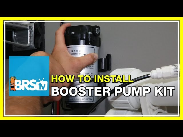 Installing a Booster Pump on a Reverse Osmosis System - BRStv How-To - Bulk Reef Supply