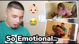TELLING MY BF IM PREGNANT! + his mom and best friends reaction