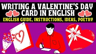 Valentine Card | Writing in English | Love Poems | Secret Admirer | How to Write in English  | Love!