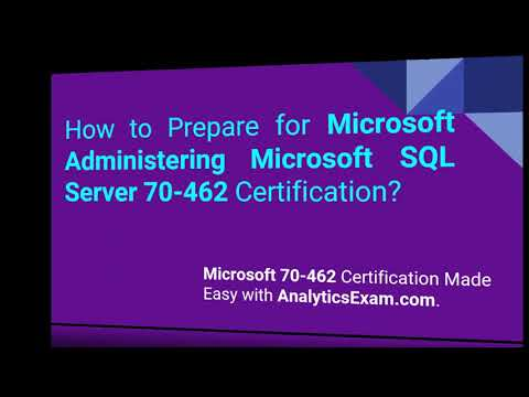 How to Prepare for Microsoft 70-462 Certification Exam? - YouTube
