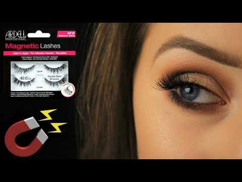 How To: Apply Drugstore Magnetic Lashes | Demo/Review