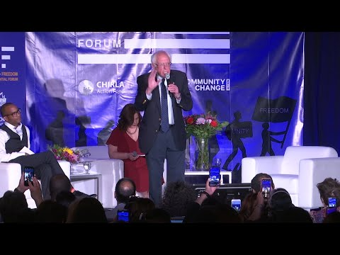 Bernie Sanders and Kamala Harris dueled Friday over Hispanic votes in California, a central front in the nation's immigration battle where Latinos represent the state's largest ethnic group. (May 31)