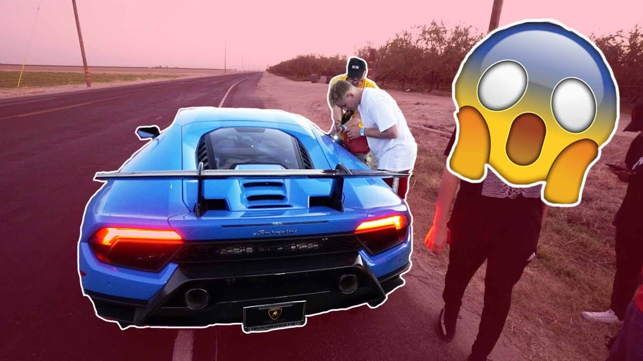 Video How Jake Paul Broke His Brand New Lamborghini