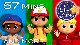 Open Shut Them | Plus Lots More Nursery Rhymes | 57 Minutes Compilation from LittleBabyBum!