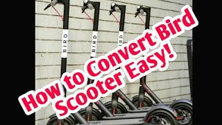 How to convert Bird scooter to a usable scooter full clip