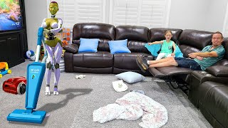 We Hired Robots to Clean Our House!!!