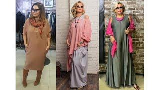 Бохо стиль платья для женщин 40 - 50 лет. Модная женская одежда на каждый день.