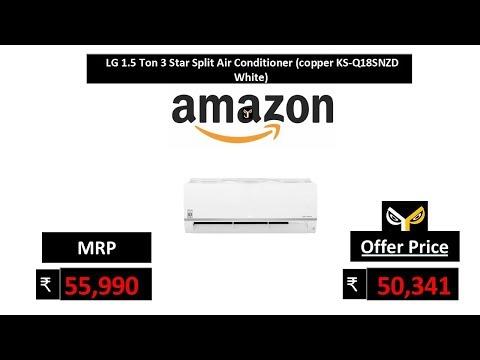 LG 1.5 Ton 3 Star Split Air Conditioner (copper KS-Q18SNZD