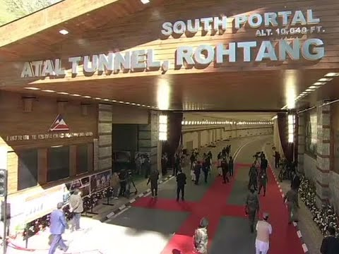 Atal tunnel: PM Modi inaugurates world's longest highway tunnel in Rohtang