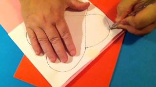 Crafti Creations - Heart Folding Template Demo From CD Box Templates