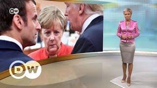 О газе из России и торговой войне: о чем говорила Меркель с Трампом - DW Новости (27.04.2018)