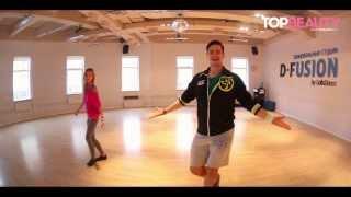 Смотреть онлайн Урок занятий фитнес танца зумба дома