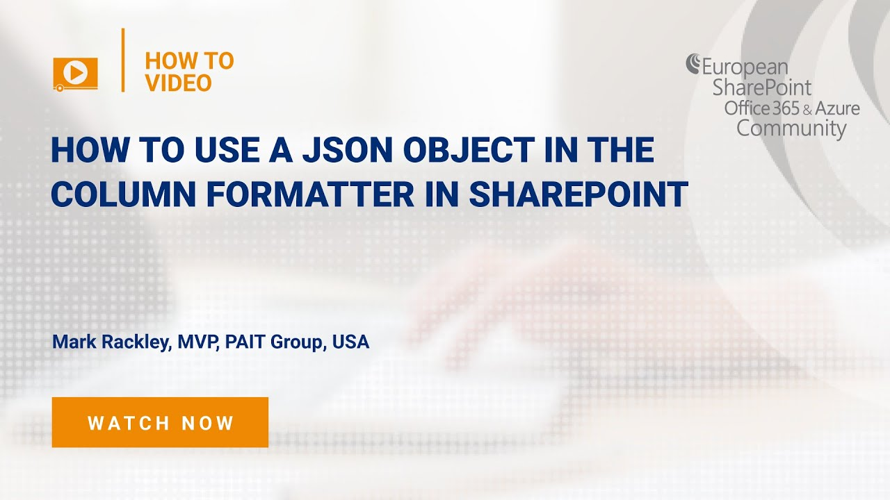 How To use a JSON object in the column formatter in SharePoint
