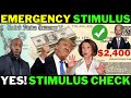 TODAY! STIMULUS CHECKS Second Stimulus Check Update + Emergency Stimulus Package