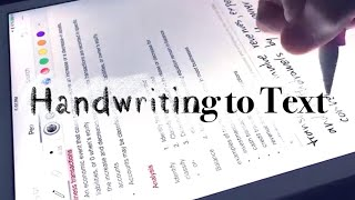 Turning Your Handwriting to Text on IPad