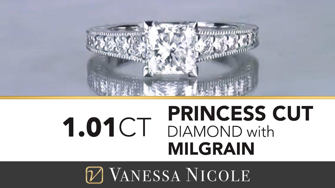 1.01ct Princess Cut Diamond Ring
