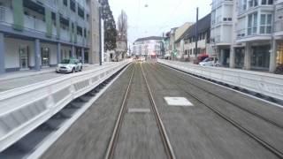 preview picture of video 'Freiburg im Breisgau Tram / Streetcar / Трамвай / Straßenbahn Verlängerung nach Gundelfingen'