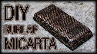 DIY Micarta Black Burlap