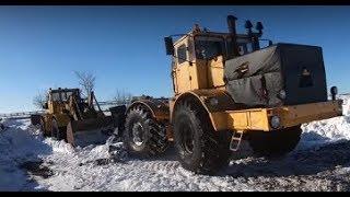 Трактор Кировец. Опять командировка в Кинельский район.