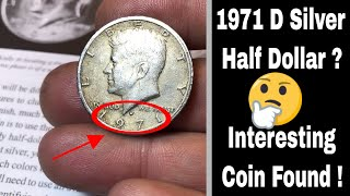1971 D Silver Planchet Error Found?  Interesting Find For Sure!