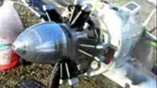 Saito 3 Cylinder Radial Engine Converted To Gas