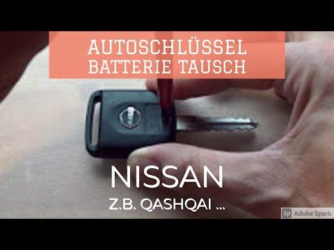 Nissan Schlüssel Batterie tauschen, Funkschlüssel