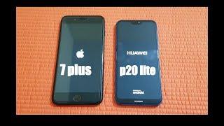 Huawei p20 lite ( nova 3e ) vs iphone 7 plus - Speed Test!!