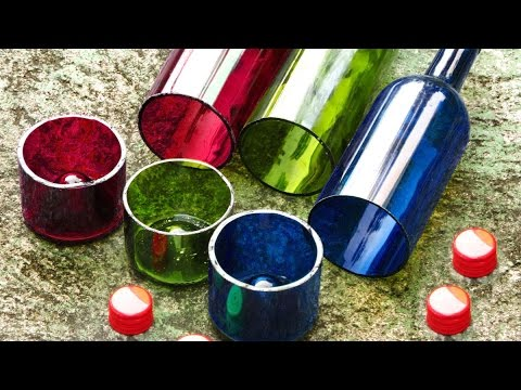 Easy Wine Bottle Cutter With Perfect Edges, How to Video DIY Recycling Ideas cutting Bottles