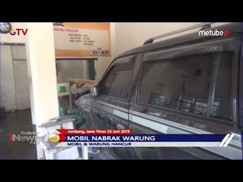 Diduga Sopir Mengantuk, Mobil Tabrak Warung Hingga Hancur di Jombang - BIP 24/06