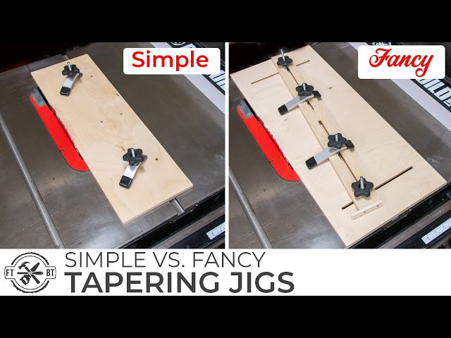 SIMPLE or FANCY Taper Jig for a Table Saw | How to Build