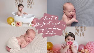 Part 2 - NEW HOME PHOTOGRAPHY STUDIO Decorating & My First Cake Smash And Newborn PHOTO SHOOTS